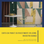 Carta da parati su Rivestimenti in Legno: Inkiostro Bianco - Arredo Ceramica