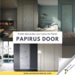 Papirus Door: Porte d'interni decorate con Carta da Parati - Arredo Ceramica