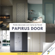 Papirus Door: Porte d'interni decorate con Carta da Parati - Arredo Ceramica
