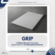 Grip, il piatto doccia Pietrablu - Arredo Ceramica